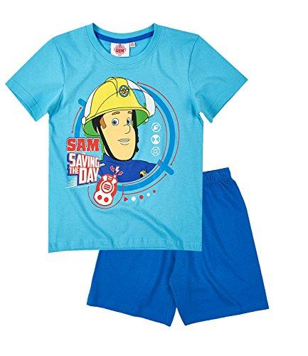 Feuerwehrmann Sam Jungen Shorty-Pyjama - blau - 116