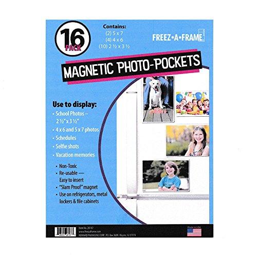 nsparent Magnetischer Bilderrahmen 16Pack (2) 5x 7(4) 4x 6(10) 2,5x 3,5-Exklusives Foto Taschen ()