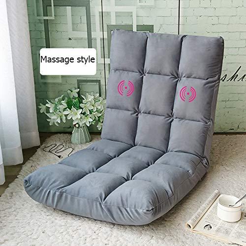 SXFYGYQ Boden Stuhl Lazy Couch Massage Stühle Faltbare Outdoor Indoor Freizeit Matte Bett Stuhl Kissen,D2,110x54x12cm -