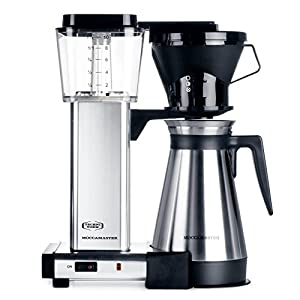 Moccamaster KBT 10-Cup Coffee Brewer with Thermal Carafe, Polished Silver by Technivorm Moccamaster
