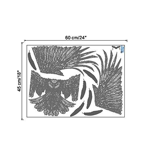 Whwd 50x100 cm Zeichnen Sie Hand gezeichneten Stiladler-Flügelwohnzimmerstudienhintergrundwanddekorations-Wandaufkleber an