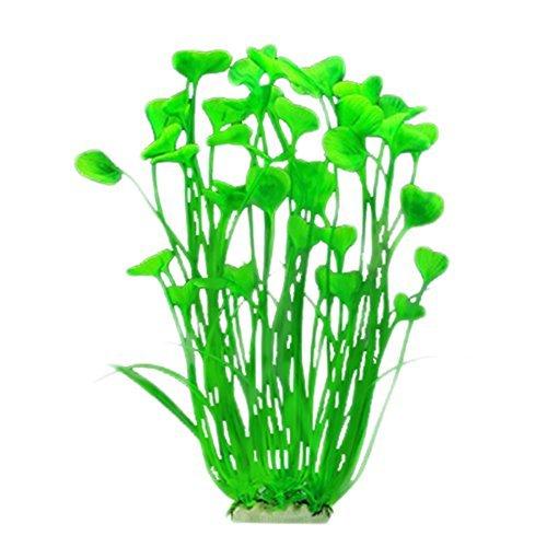 Romote 1 Pc Künstliche Pflanzen für Aquarien Aquarienpflanzen verziert gefälschte Pflanzen Künstliche Pflanzen für Dekoration (40 cm, Grün) (Blatt Pflanze Aquarium)