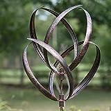 Creekwood 48052Hampton Wind Skulptur Spinner 190cm Height-Brushed, Kupfer, 56x 56x 208cm