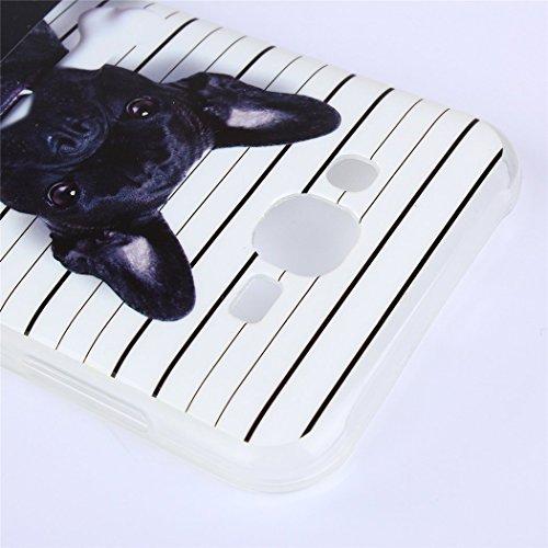 Cuitan Weiche Transparent TPU Schutzhülle Hülle Handyhülle für Apple iPhone SE, Musterentwurf Rückseitige Abdeckung Telefonkasten Back Case Cover Shell für Apple iPhone SE - Böser Hund Böser Hund