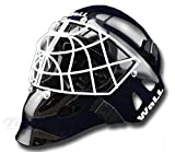 Maschera Wall W2H Cat Eye con CE Senior Hockey su ghiaccio Hockey Portiere, Nero