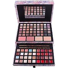 BrilliantDay 85 color paleta de sombra de ojos Blush Corrector Kit Belleza brillo de labios maquillaje Set