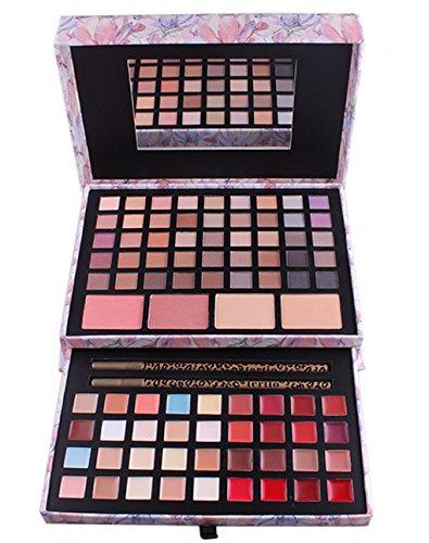 BrilliantDay 85 Couleurs Palette Fard à Paupières Blush Gloss à lèvres Correcteur Kit Maquillage Beauté Set
