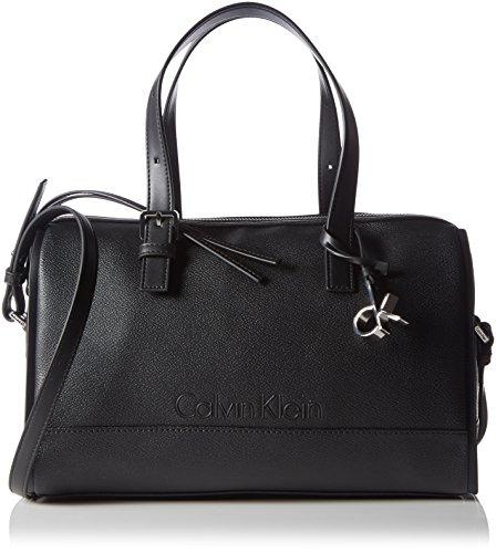 Calvin Klein Jeans Melissa Duffle, Sacs portés Main Femme - Noir (Black 001 001), 33x26x17 cm (B x H x T)