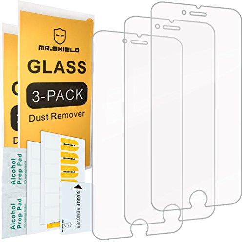 [3-Pack]-Herr Shield für iPhone 6/iPhone 6S [gehärtetem Glas] Displayschutzfolie [Japan Glas mit 9H Härte] mit Lebenslange Umtausch-Garantie (Iphone 6 Schutzfolie Shield)