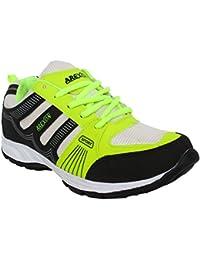 Arexon Men's Synthetic Black Colored Sport Shoe( Men's Running Shoe, Breathable Sports Shoe, High Grip Sports... - B074Q1RL4L