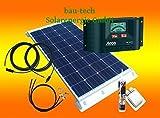 bau-tech Solarenergie 100 Watt Wohnmobil Solaranlage 12 Volt Set mit Steca LCD Laderegler GmbH