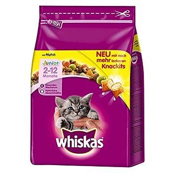 Whiskas - Croquettes Junior au Poulet pour Chaton - 1,75Kg