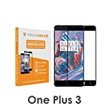 OnePlus 3 / OnePlus 3T Edge To Edge Premium Tempered Glass Screen Protector [9H] By Tech Sense Lab – Full HD, Shatterproof, Anti Scratch Screen Guard For One Plus 3 & One Plus 3T (Black)
