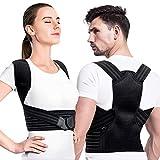 Creatck Upgrade Haltungstrainer, Geradehalter zur Haltungskorrektur Rückenstütze Rückenbandage Haltungstrainer Haltungskorrektur Rücken Verstellbare Rückenstütze für Damen Herren-XL