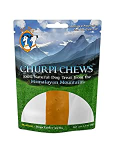 ChurpiChews Natural Long Lasting Dog Treat Chew, Medium, 2.5-Ounce, 1-Piece