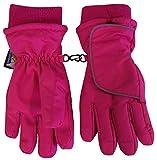 N'Ice Caps Jungen Mädchen Easy-On Velcro Wickel Kinder Handschuhe Wasserdicht Thinsulate für Kaltem Wetter, Fuchsie, 5-6yrs