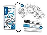 Pilot -Pilot Pintor - Kit créatif - 5 Pochoirs - Couleurs assorties - Pointe Moyenne