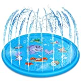 170cm Kids Sprinkle And Splash Play Mat Pad Toy Inflatable Outdoor Sprinkler Pad Water Pad Toys for Children Infants Toddlers Boys Girls