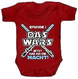 Strampler mit Motiv Bio Baumwoll Baby Body kurzarm Junge - Das Wars jetzt hab ich die Macht!, Größe: 0-3 Monate,Red