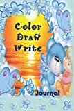 Color Draw Write: Girls Boys Simple Beginners Wide Ruled Writing Drawing Colouring Journal For Kindergarten Kids Grades Level K-2, K-3 Early Childhood ... to write space to draw & Color Age 3-12 Blue