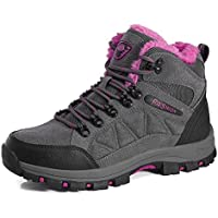 e2922f4db1e2ec BomKin Herren Damen Wanderschuhe Wasserdicht Trekking Winterschuhe Warm  Gefüttert Winter Boots Schneestiefel Plateau Sneakers Schuhe
