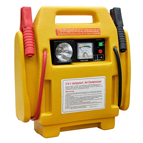 HMSR® 12 V tragbares Auto Starthilfegerät Auto Batterie Ladegerät Kompressor Batterie Start Notfall Booster Pack Starthilfekabel