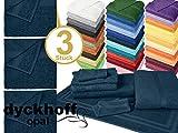 Frottiertücher der Serie Opal - erhältlich in 33 modernen Farben und 7 verschiedenen Größen -Markenqualität von Dyckhoff, 1 Pack (3 Stück) - Handtücher [50 x 100 cm], marine