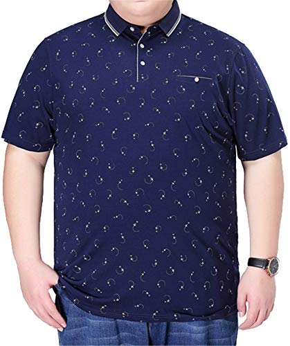 YOJDTD Half Sleeve Large Size Halbes Hülsen-T-Shirt Kurzärmliges Business-T-Shirt, Blau, 215