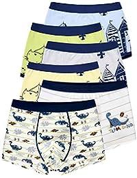 e311cc47be LeQeZe Boys Boxer Shorts 6 Pack Dinosaur Toddler Children Underwear Kids  Briefs Baby Cotton Underpants Size