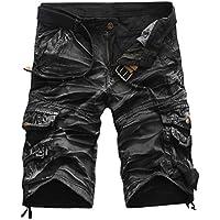 Logobeing Pantalones Cortos Deporte para Hombre - Bermudas Cargo Shorts Pantalón con Bolsillos Moda Leisure Casual 31-38