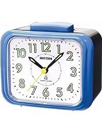 Rhythm Added Bell Alarm Clock Blue 10.4x9.5x6.5 Cm