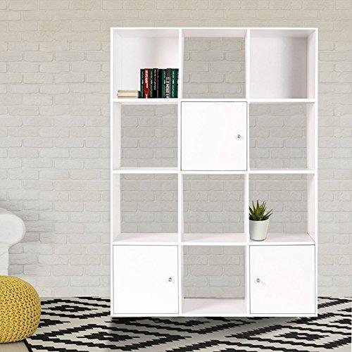 Idmarket  Meuble De Rangement Cube  Cases Bois Blanc Avec
