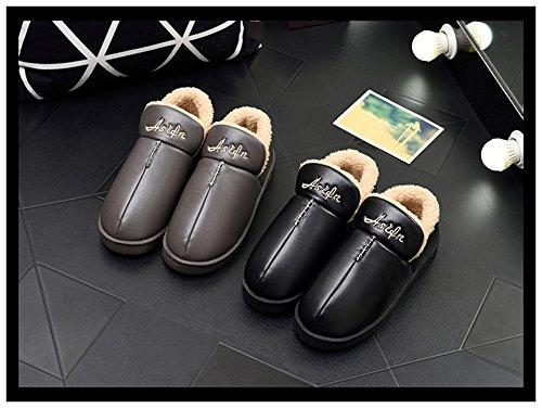 Maesty-eu Outdoor Männer Haus Hausschuhe Frauen Memory Foam Indoor Folie Schuhe Winter Baumwolle Hause Slipper Geschenk Grau