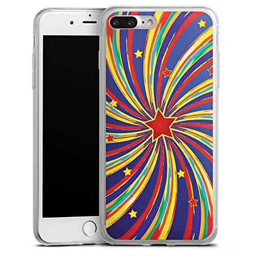 Apple iPhone 8 Slim Case Silikon Hülle Schutzhülle Stern Sternschnuppe Bunt Silikon Slim Case transparent