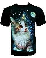 Rock Chang T-Shirt * Sweet Cat * Chat Mignon * Noir R551