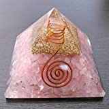 Wunderschöner Rosenquarz 177 g Organit-Pyramide Kristall Reiki Feng Shui Home Office Geschenk Positive Energie Metaphysischer Edelstein Liebe Beziehungen Meditation Spirituell