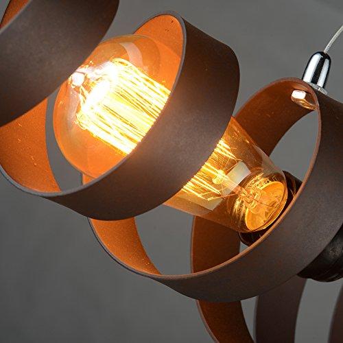 BAYCHEER Industrielampe Kronleuchter Eisen Lampe Länge 70cm Bar Loft Design Leuchte - 5