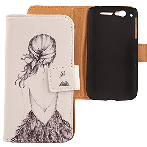 Alcatel Ot 997d - Lankashi Etui Housse Cuir Coque Case Cover