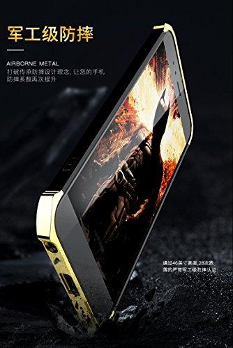 YHUISEN Xiaomi Mi5X Case, Fashion 3 in 1 Heavy Duty High Impact Matte Plating Shockproof Anti-Drop PC Hard Schutzhülle für Xiaomi Mi5X / Mi 5X ( Color : Silver White ) Gold