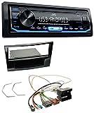 caraudio24 JVC KD-X151 1DIN USB Aux MP3 Autoradio für Opel Astra H Corsa D Zafira B ab 2005 Klavierl.- Schwarz