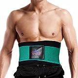 SportsClothing Snellente Uomo Donne la Perdita di Peso Cintura Pancia Fat Burner Body Shaper Supporto Schiena Pancia Dimagrante, Green