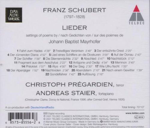 Lieder sur des poèmes de Mayrhofer