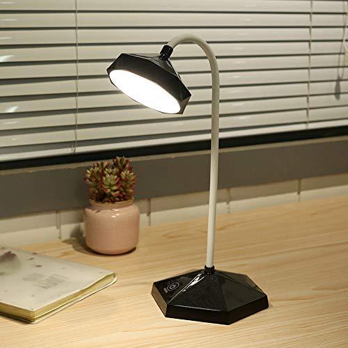 Lámpara de escritorio LED de atenuación táctil de tres velocidades Carga por USB protección ocular lámpara de lectura lámpara de mesa de aprendizaje negro