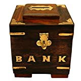 ITOS365 Handicrafted Wooden Money Bank S...