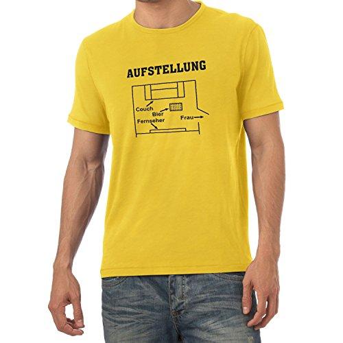 Texlab Herren Aufstellung Wohnzimmer T-Shirt, Gelb, S (T-shirt Aufstellung)