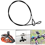 Fantaseal® Plastic Coated Stainless Steel Rope (2-pack) pour GoPro Longe GoPro sécurité Tether câble GoPro Wire Cord pour GoPro Hero / Session + SJCAM + Garmin Virb XE + Xiaomi Yi + SonY + Plus (60cm)