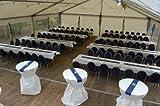 Tischdeckenrolle 25 m lang aus stoffähnlichem Vlies (Farbe & Breite nach Wahl), WEIß, 1m x 25m, ideal für jede Party, Catering, Vereinsfeier, Geburtstagsfeier - 8