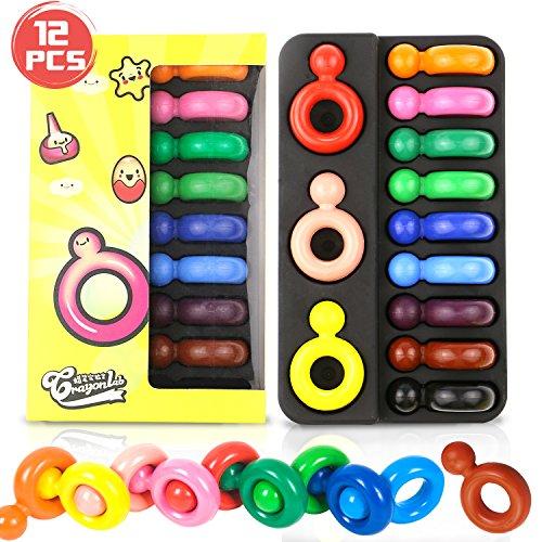 Buluri Buntstifte für Kinder, 12 Farben Buntstifte ungiftig -
