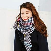 CXIGUA Damen Schals Winter Stil Künstliche Beflockung Verdickte Kragen
