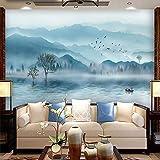 Nuovo rivestimento atmosferico cinese della parete della camera da letto della pittura della parete della pittura del fondo del sofà del pae Carta Da Parati moderna 3D Fotomurali spiaggia-250cm×170cm